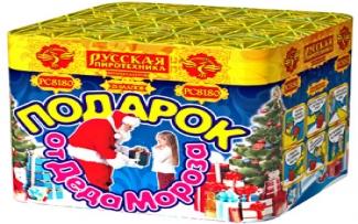 """Батарея салютов  РС8180/РС818 Подарок от Деда Мороза  (1,2""""х 25)"""